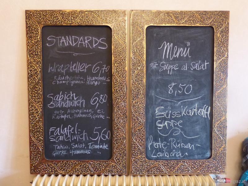 Speisekarte - Preise - die Erbse