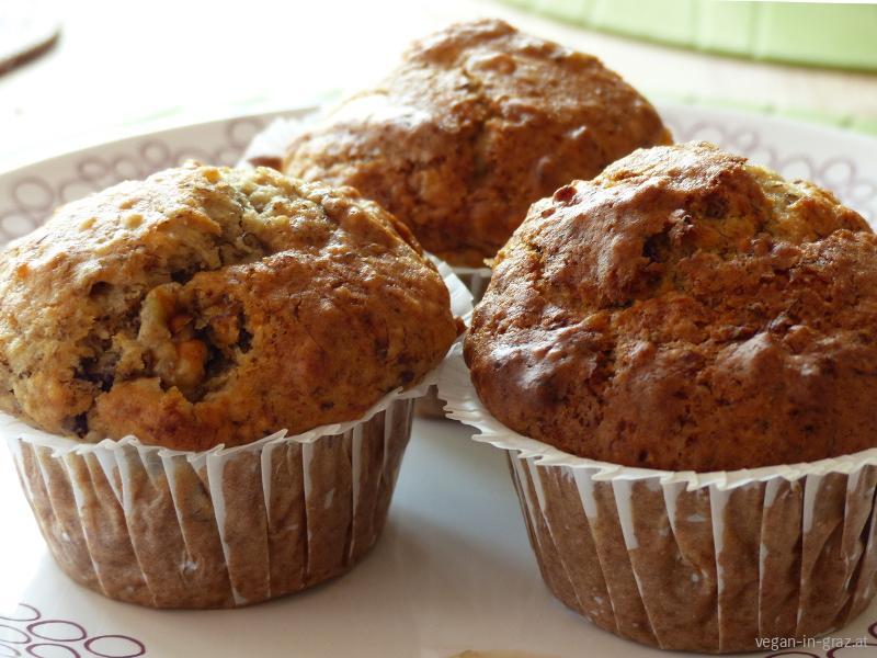 Vegane Bananen-Schoko-Muffins
