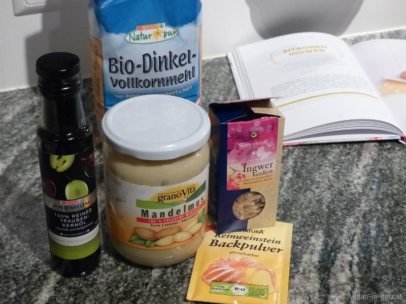 Zitronen-Ingwer-Kekse-Zutaten