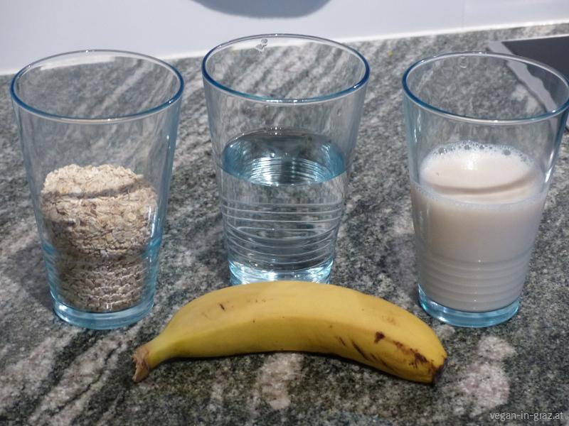 Haferbrei-Porridge-zutaten